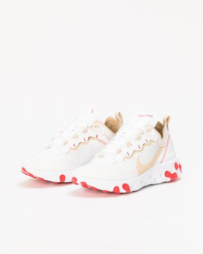 Nike React Element 55 White/Desert Ore-White-Ember Glow