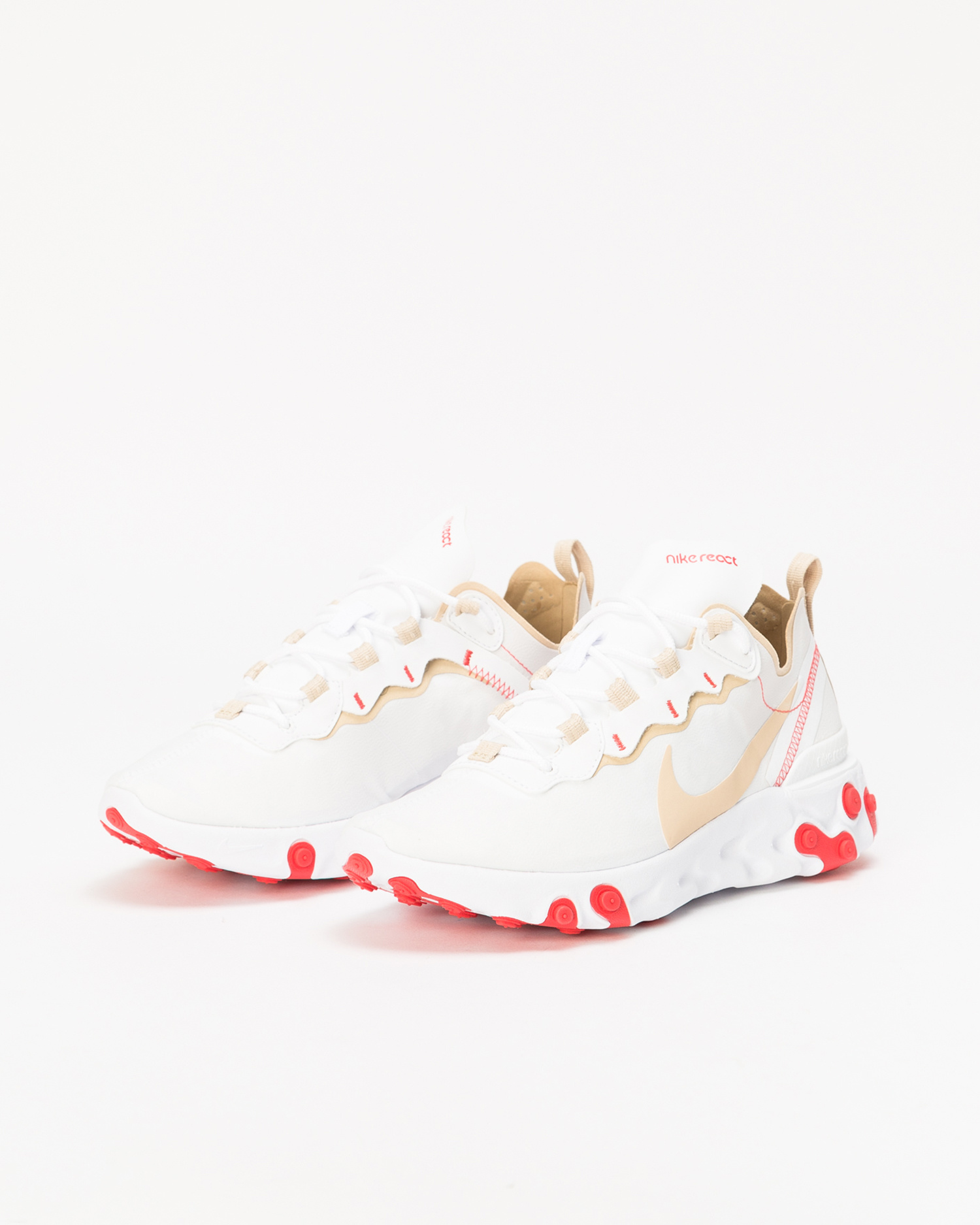 Nike React Element 55 White/Desert Ore-White-Ember Glow