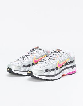 Nike Nike P-6000 white/laser fuchsia-mtlc platinum