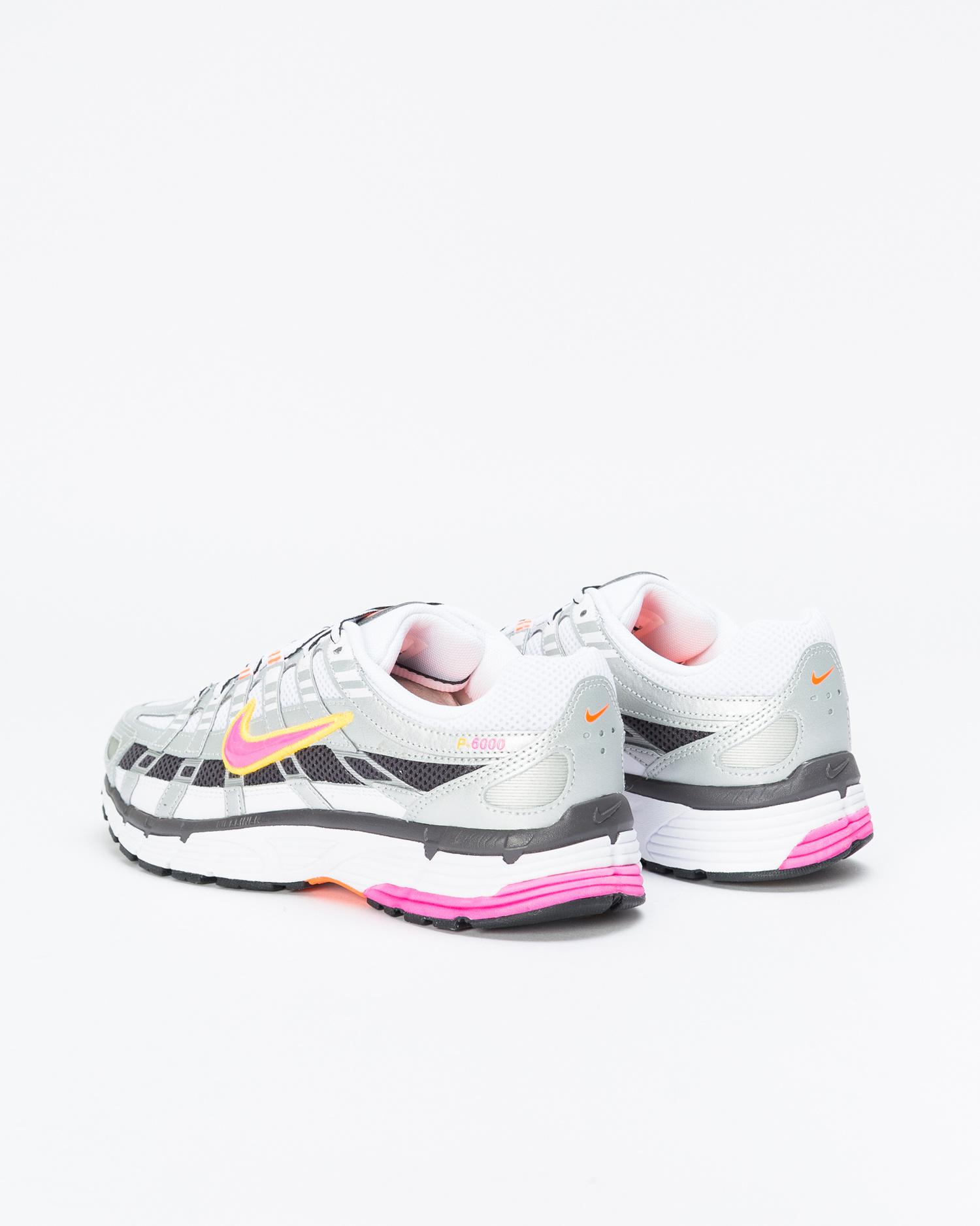 Nike P-6000 white/laser fuchsia-mtlc platinum