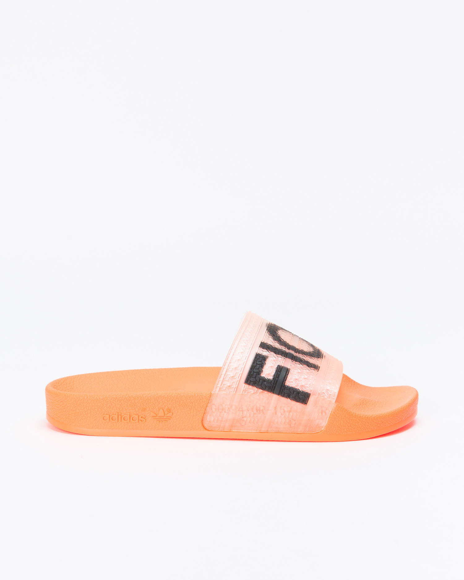 adidas x Fiorucci Adilette Solar Orange/Solar Gold/Black/Red