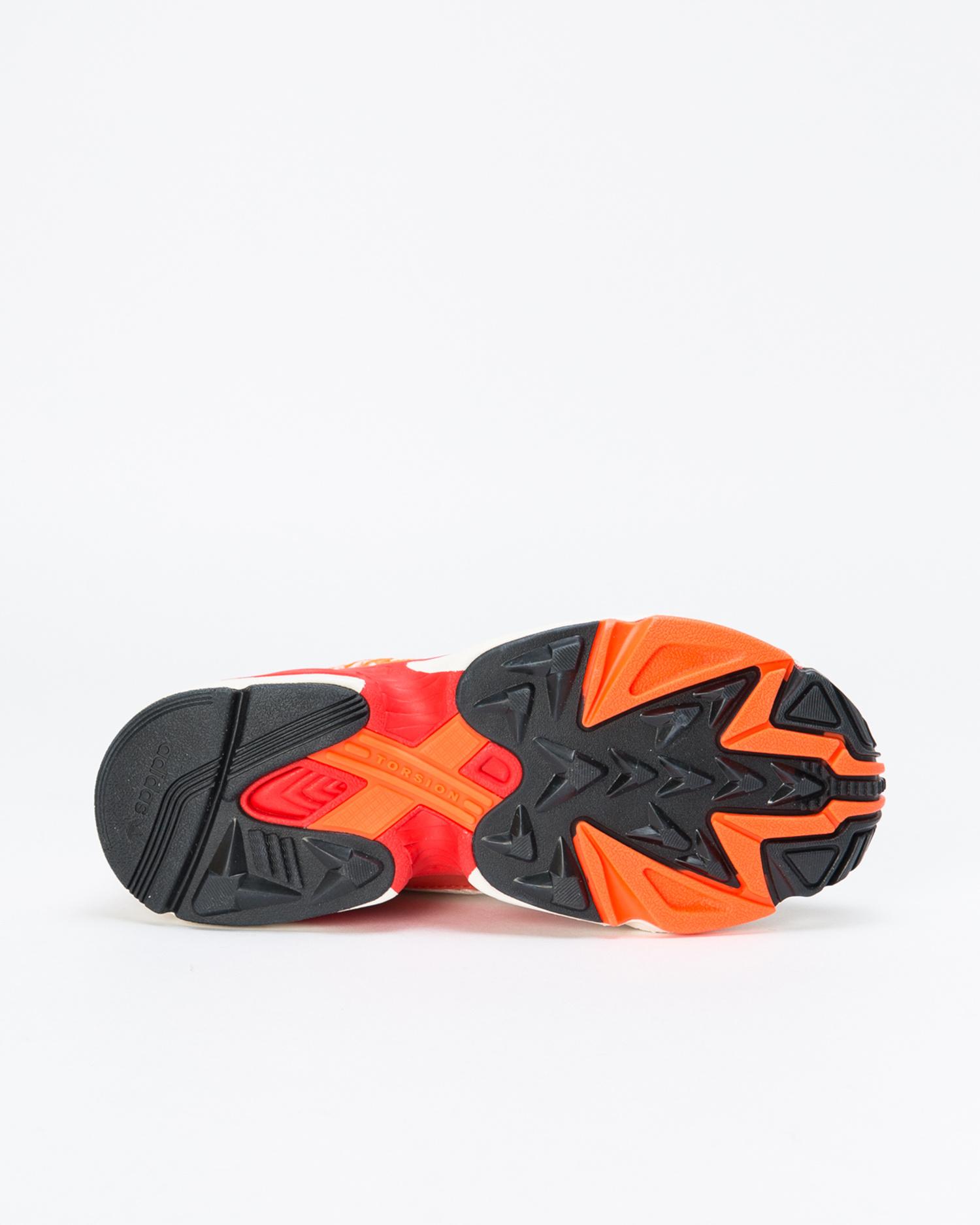 adidas x Fiorucci Womens Falcon Off-White/Red/Solar Orange