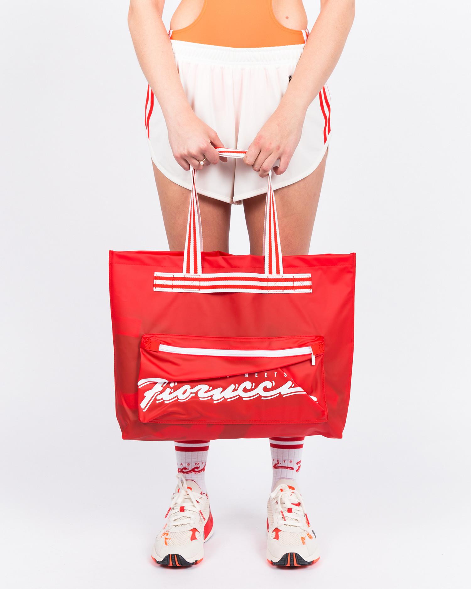 adidas x Fiorucci Stripe Tote Bag Red