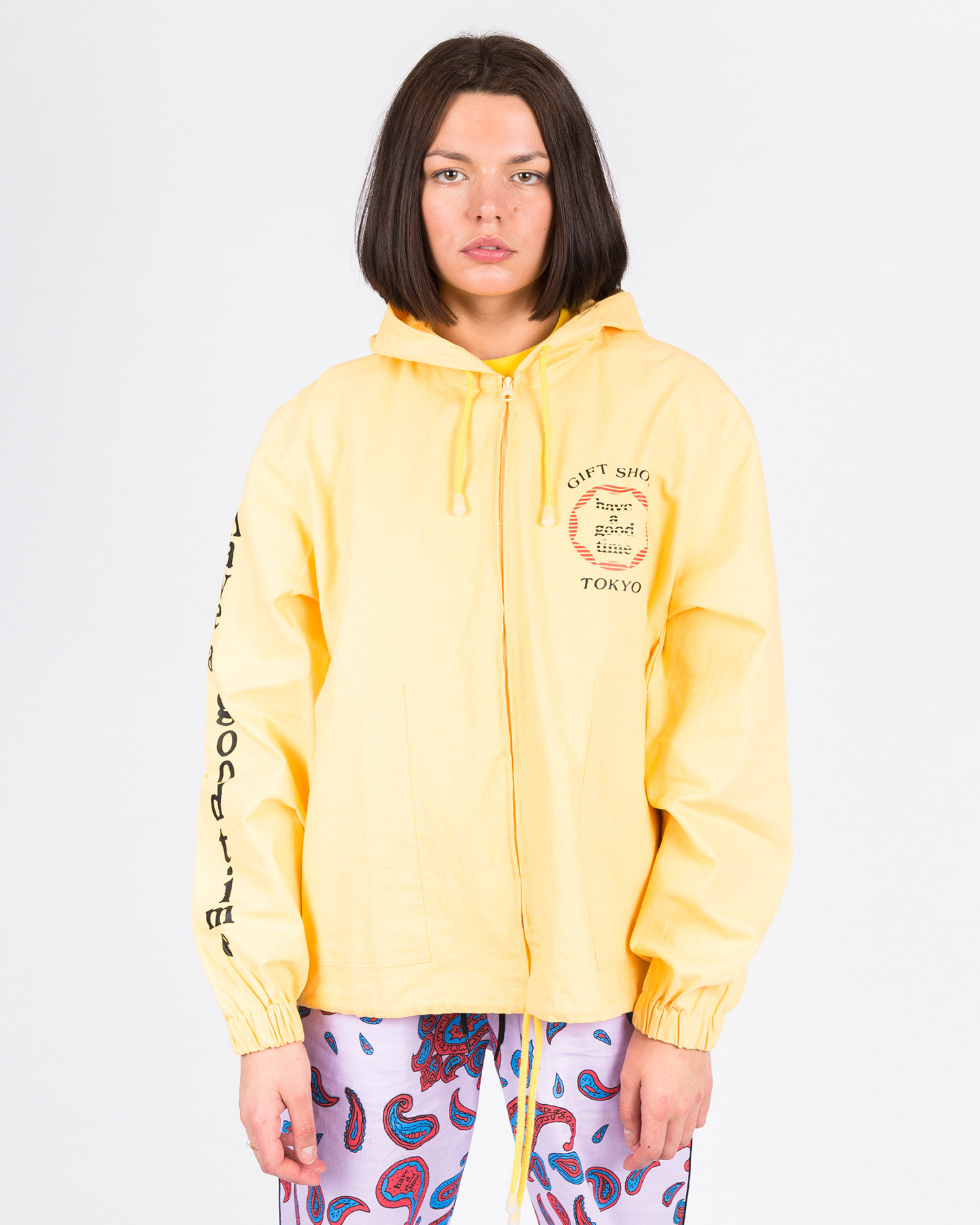 Have A Good Time Cruise Logo Zip-Up Poncho Yellow