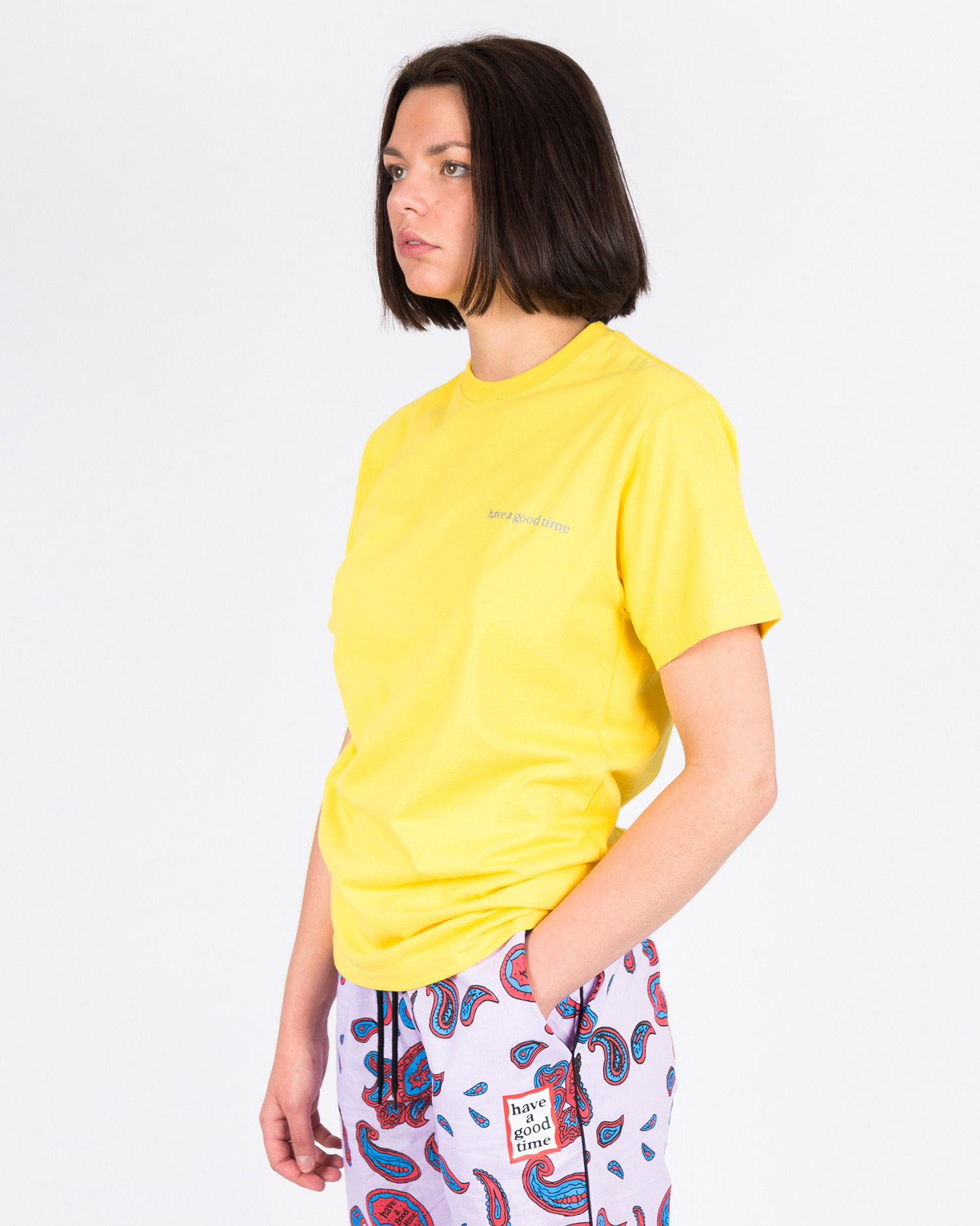 Have A Good Time Side Logo Shortsleeve T-shirt Lemon