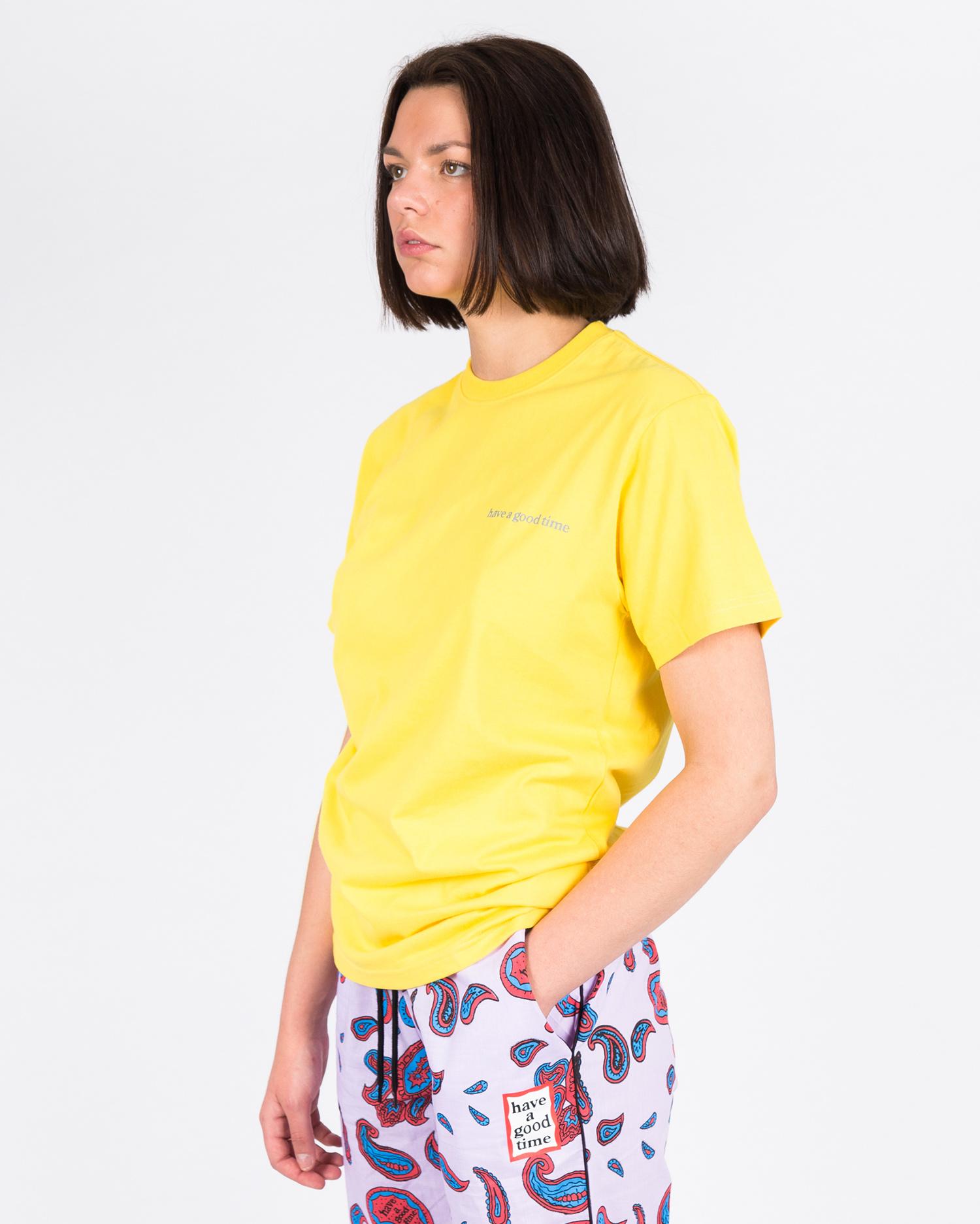 Have A Good Time Side Logo Shortsleeve T-shirt Lemon