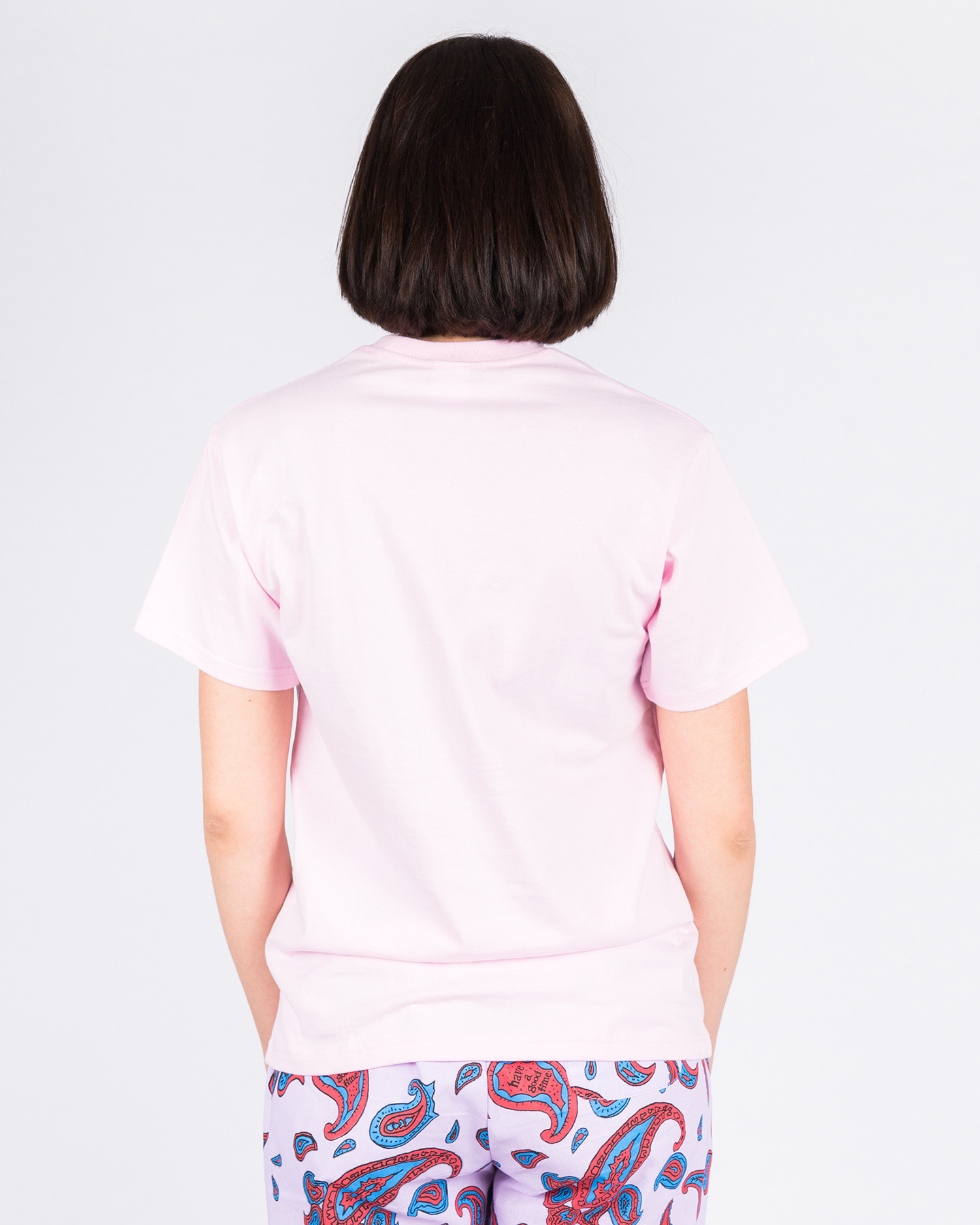 Have A Good Time Logo Pocket Shortsleeve T-shirt Pink