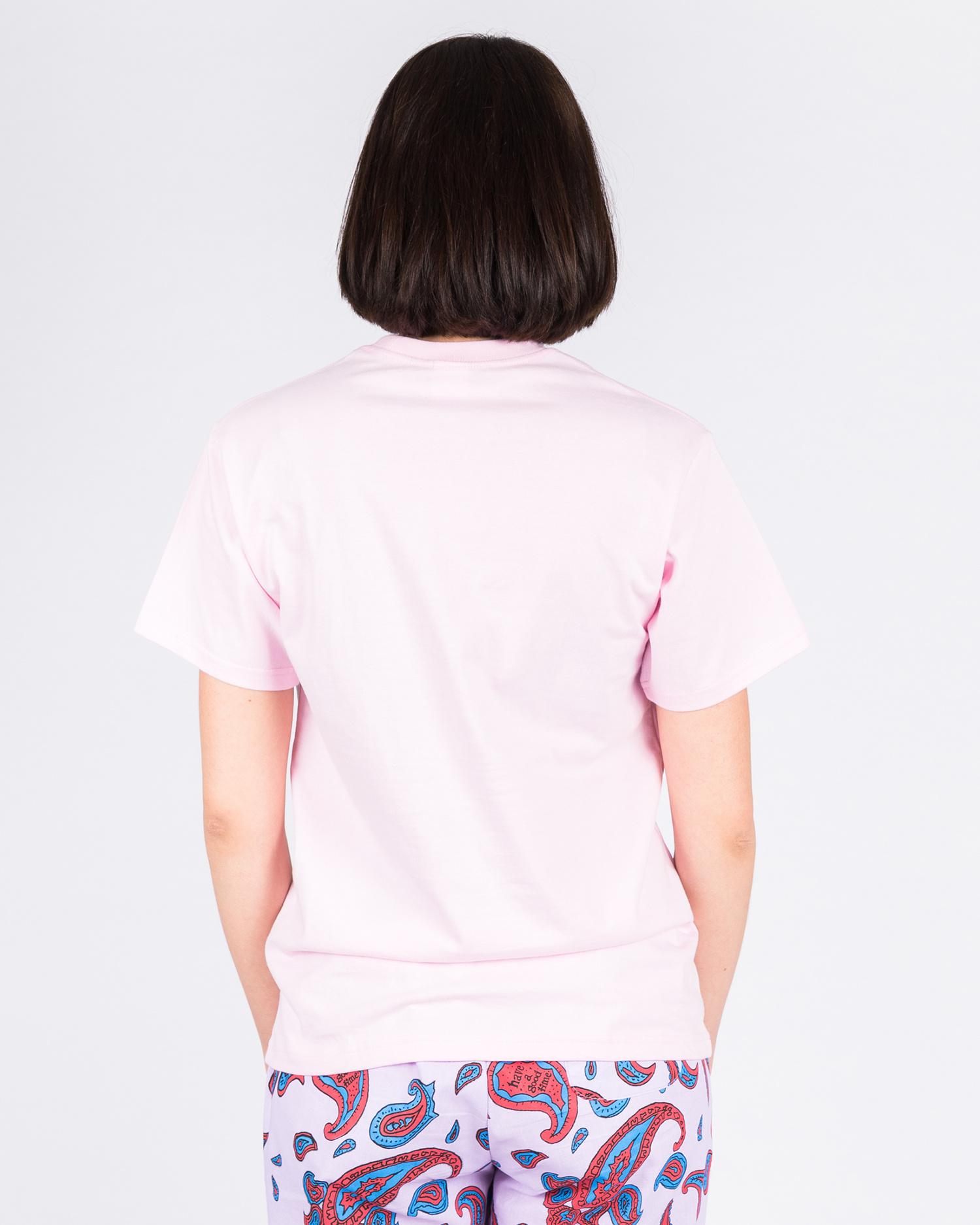 Have A Good Time Logo Pocket Shortsleeve T-shirt Pink