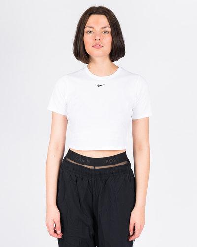 Nike W NSW Essentl Top SS Crop White/Black