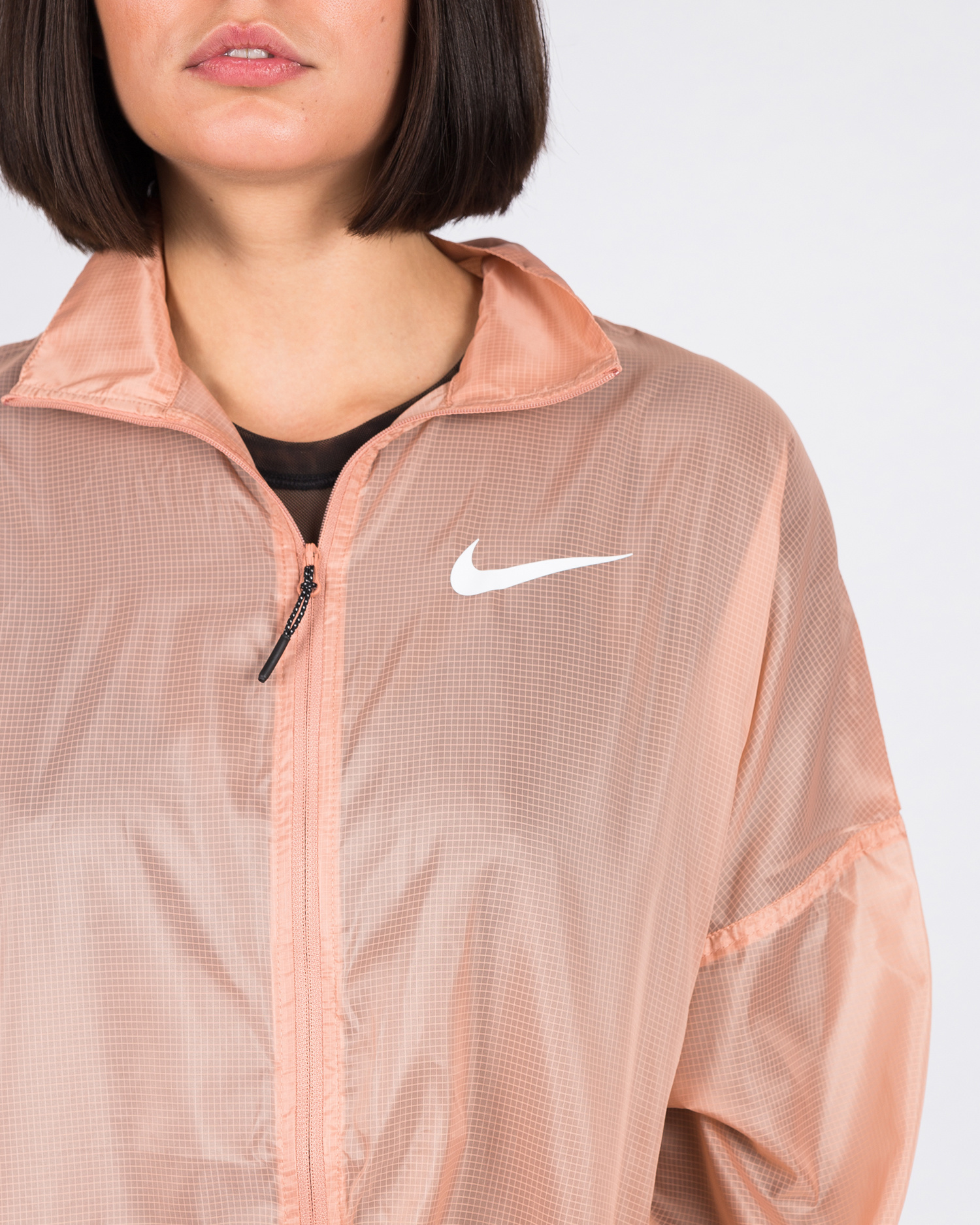 Nike W Sportswear Jacket Woven Swoosh ROSE GOLD/WHITE