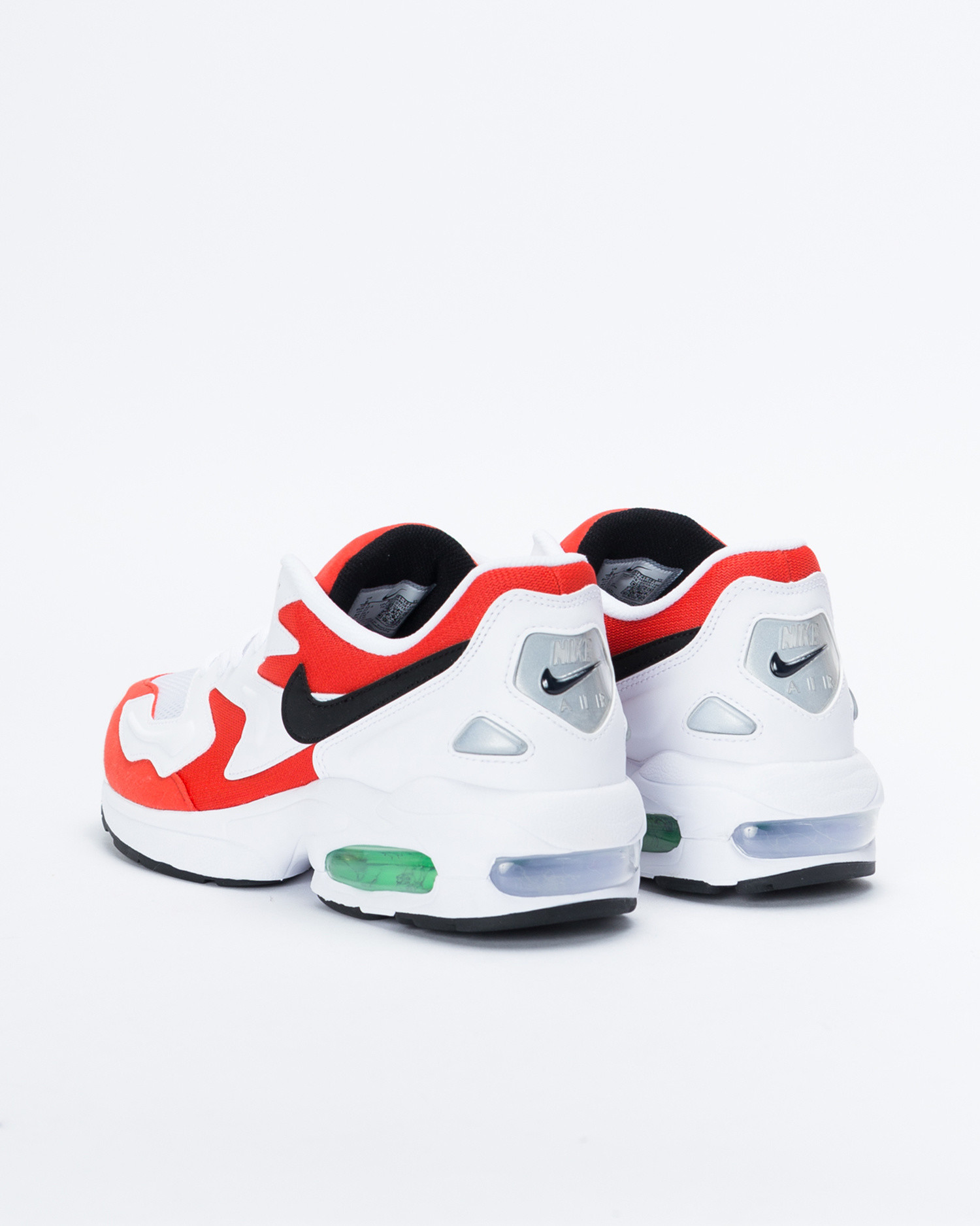 mode designer a4f54 73d78 Nike Air Max 2 Light White/black-habanero red-cool grey