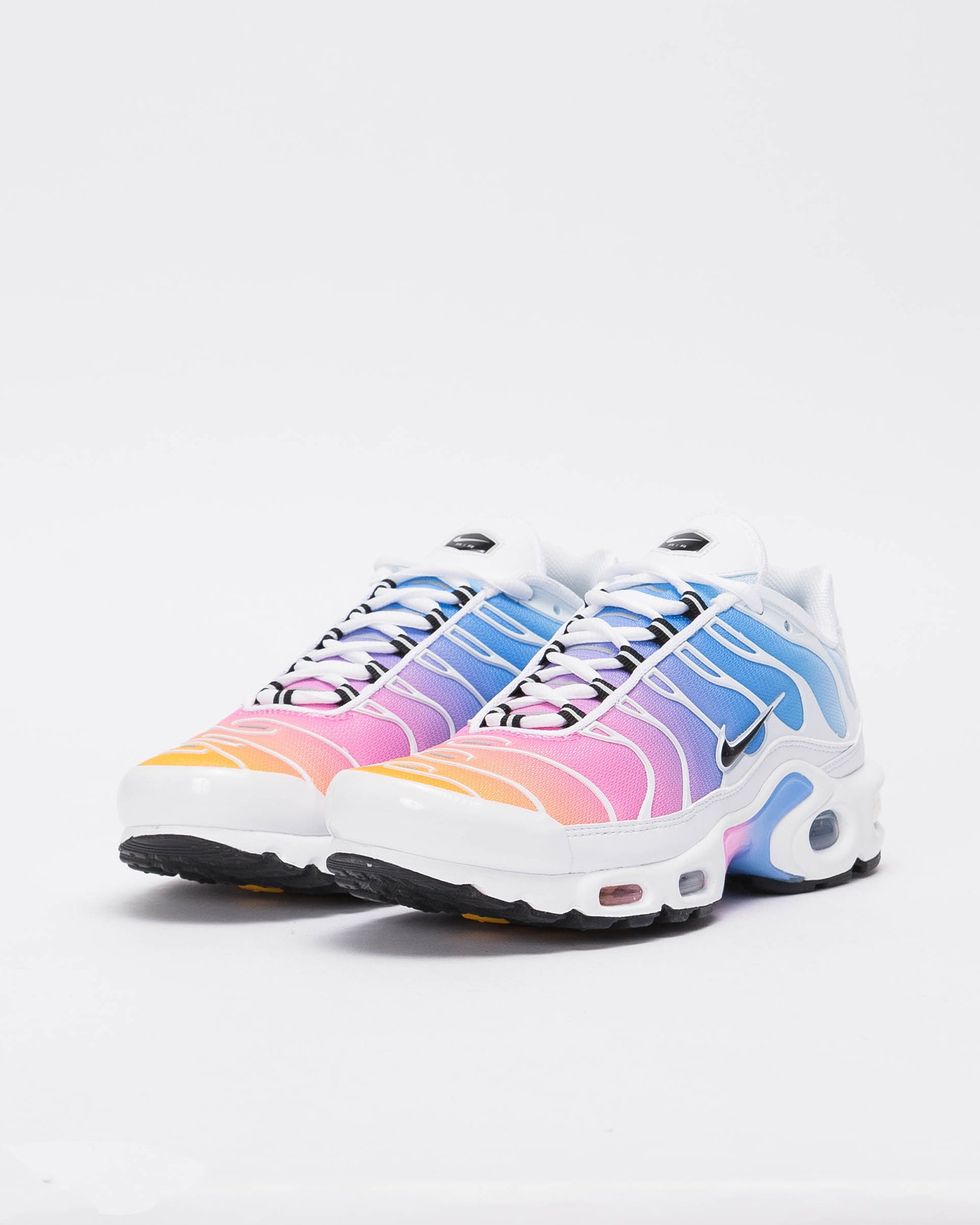 reputable site 59c2d 85e84 W Nike Air Max Plus WHITE BLACK-UNIVERSITY BLUE-PSYCHIC PINK ...