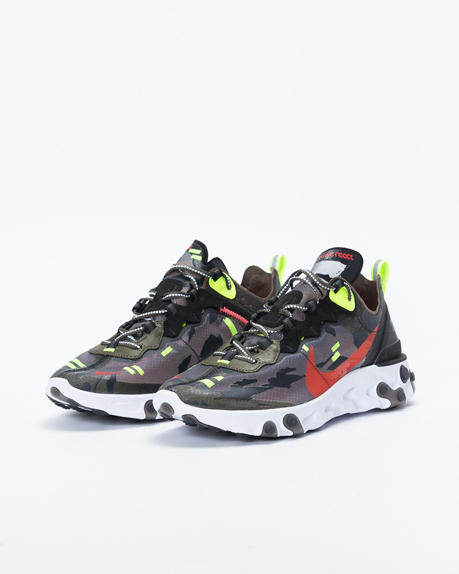 Nike React Element 87 Medium olive/bright crimson-black-volt