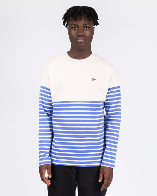Patta Patta Striped Heavy Longsleeve Baja Blue