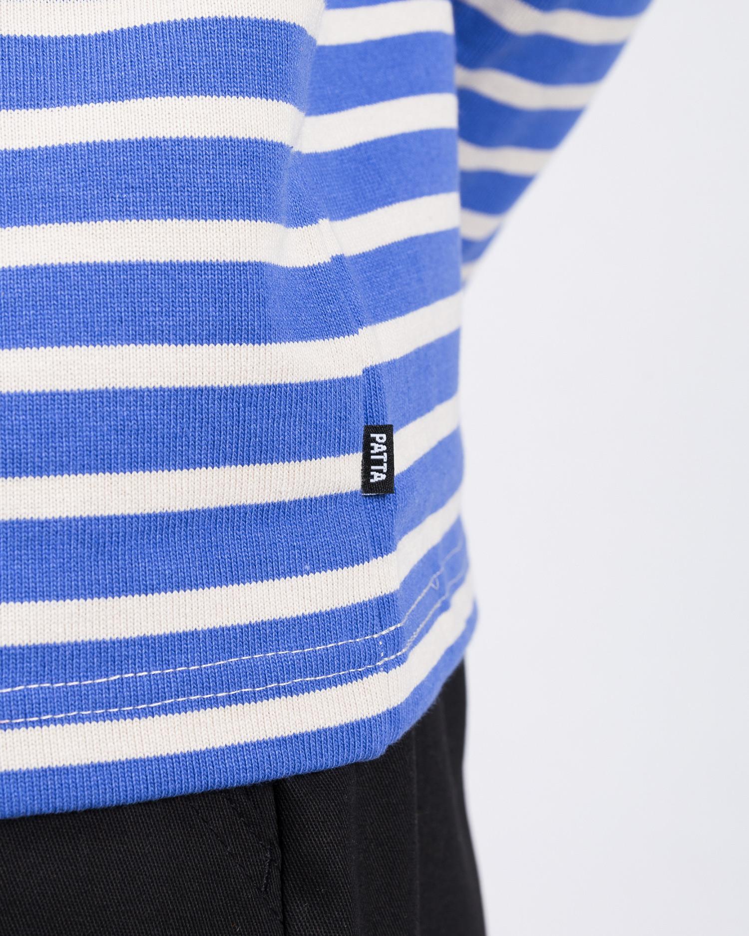 Patta Striped Heavy Longsleeve Baja Blue