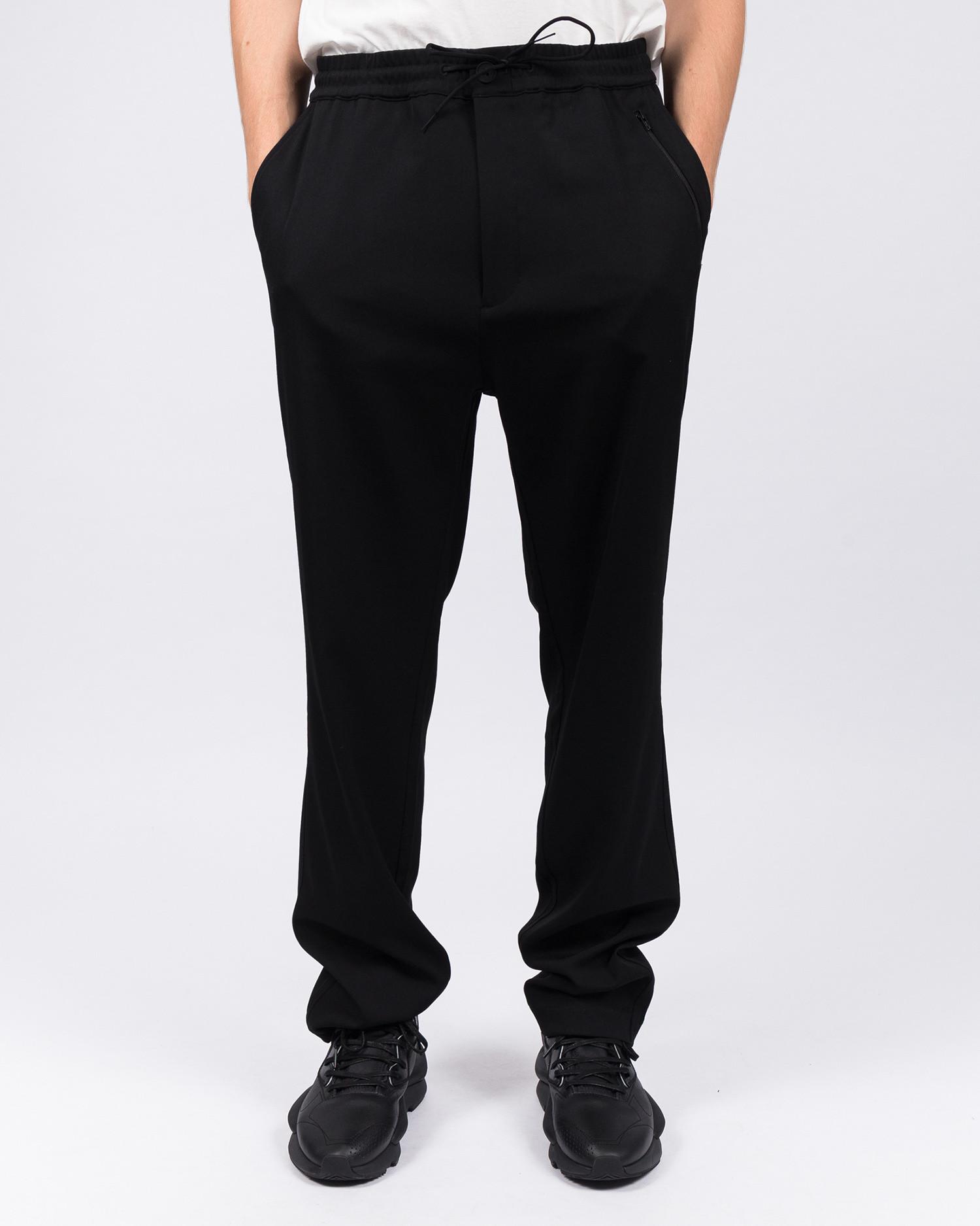 Adidas Y-3 Wool Sateen Straight Leg Pant Black