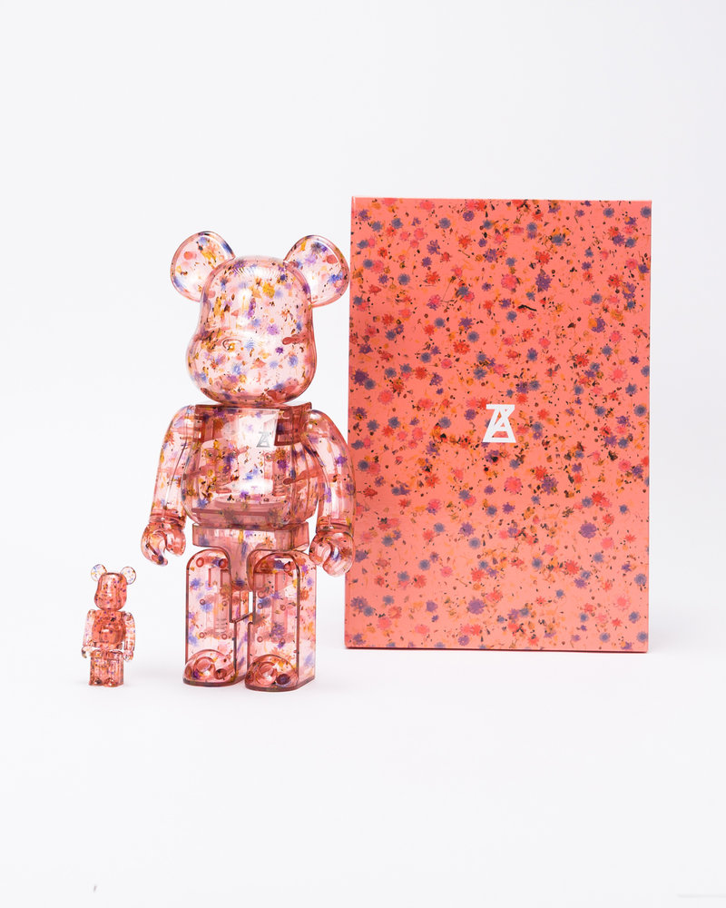MEDICOM TOY BE@RBRICK Anrealage Clear 100% & 400%
