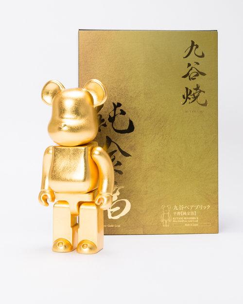 MEDICOM TOY BE@RBRICK Kutani Kanazawa Gold Leaf Version
