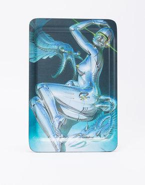 """MEDICOM TOY Sync. x Sorayama Wood Tray """"Sexy Robot"""" made by Saito Wood"""