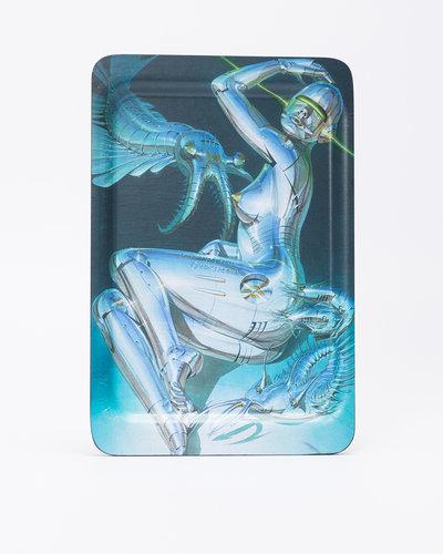 "Sync. x Sorayama Wood Tray ""Sexy Robot"" made by Saito Wood"