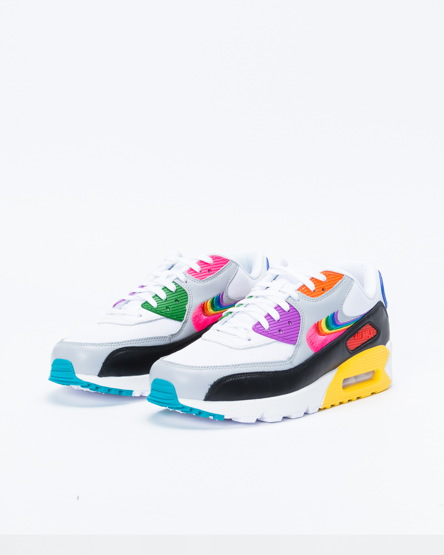 Nike Air Max 90 BETRUE White/Multi-Color-Black-Wolf Grey