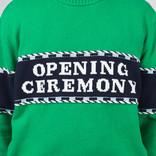 Opening Ceremony Logo Stripe Sweater Kelly Green