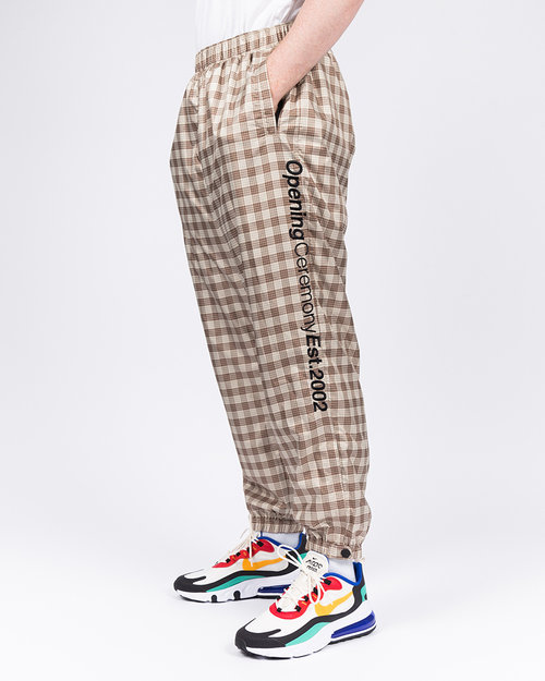 Opening Ceremony Opening Ceremony Plaid Knit Jogger Pant Khaki Multicolor
