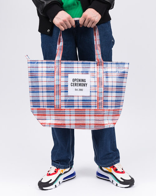 Opening Ceremony Opening Ceremony Plaid Tote Medium