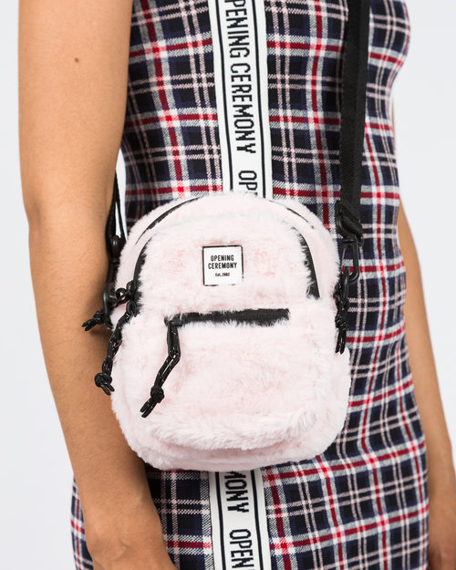 Opening Ceremony Opening Ceremony Faux Fur Mini Crossbody Bag Blush