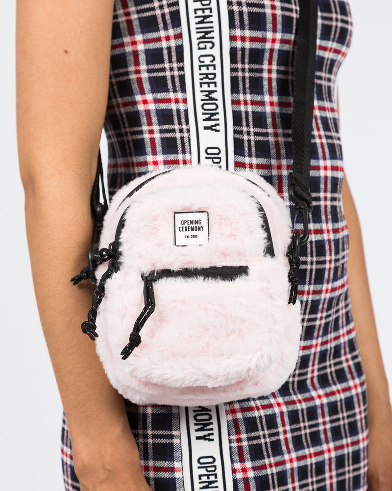 Opening Ceremony Opening Ceremony Faur Fur Mini Crossbody Bag Blush