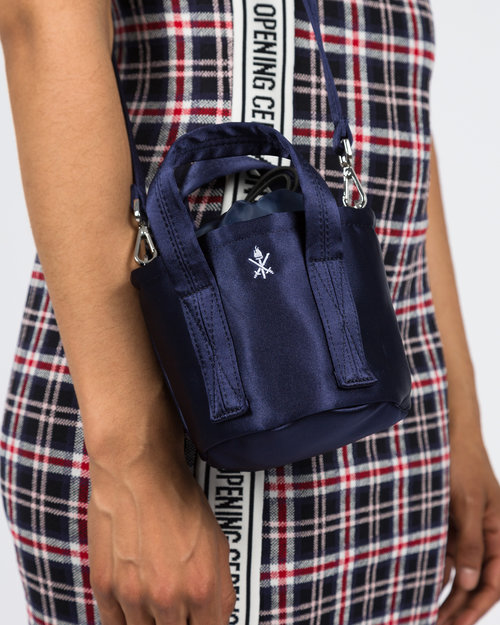 Opening Ceremony Opening Ceremony Satin Mini Bucket Bag Collegiate Navy