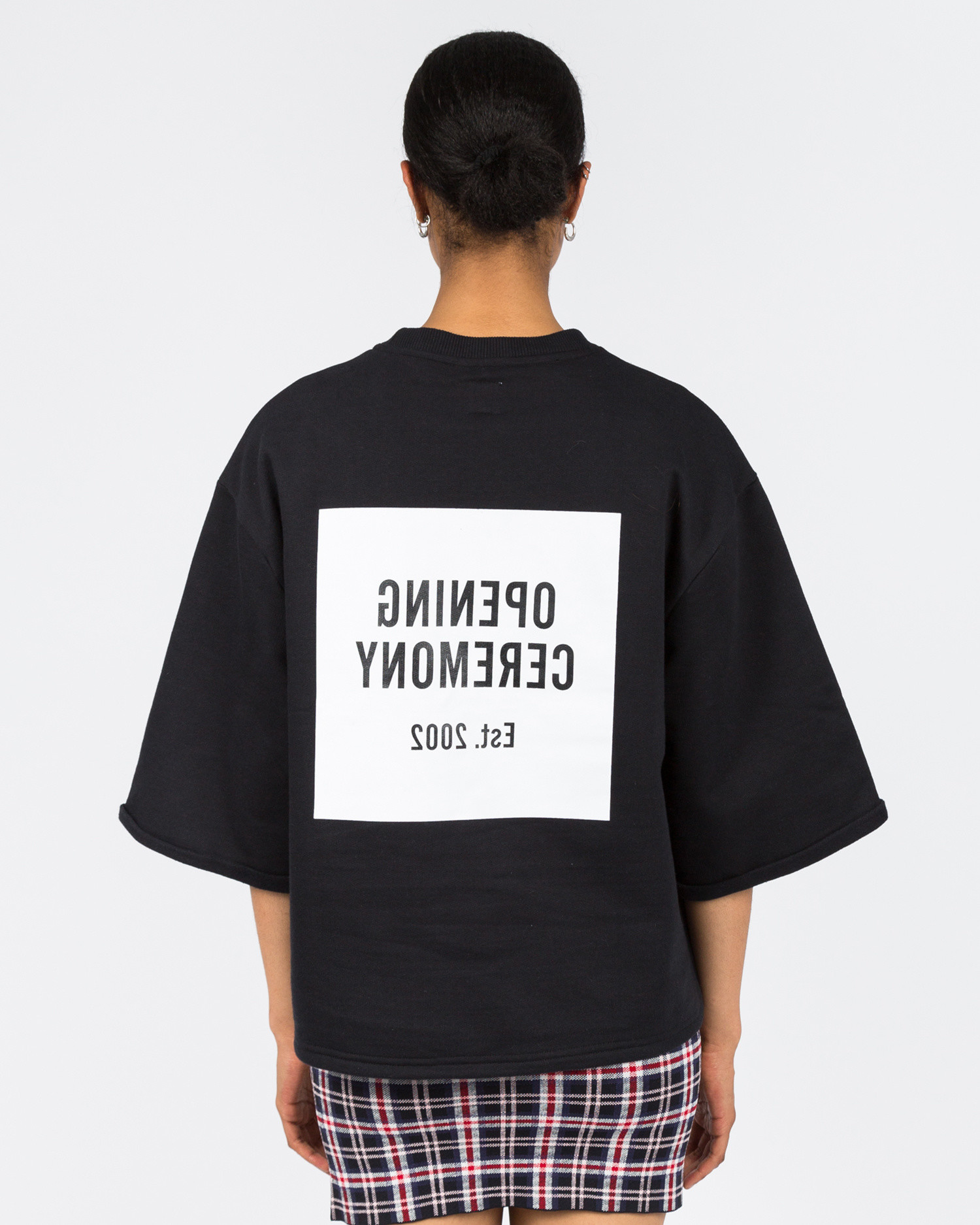Opening Ceremony Cut-Off Sweat Tee Black