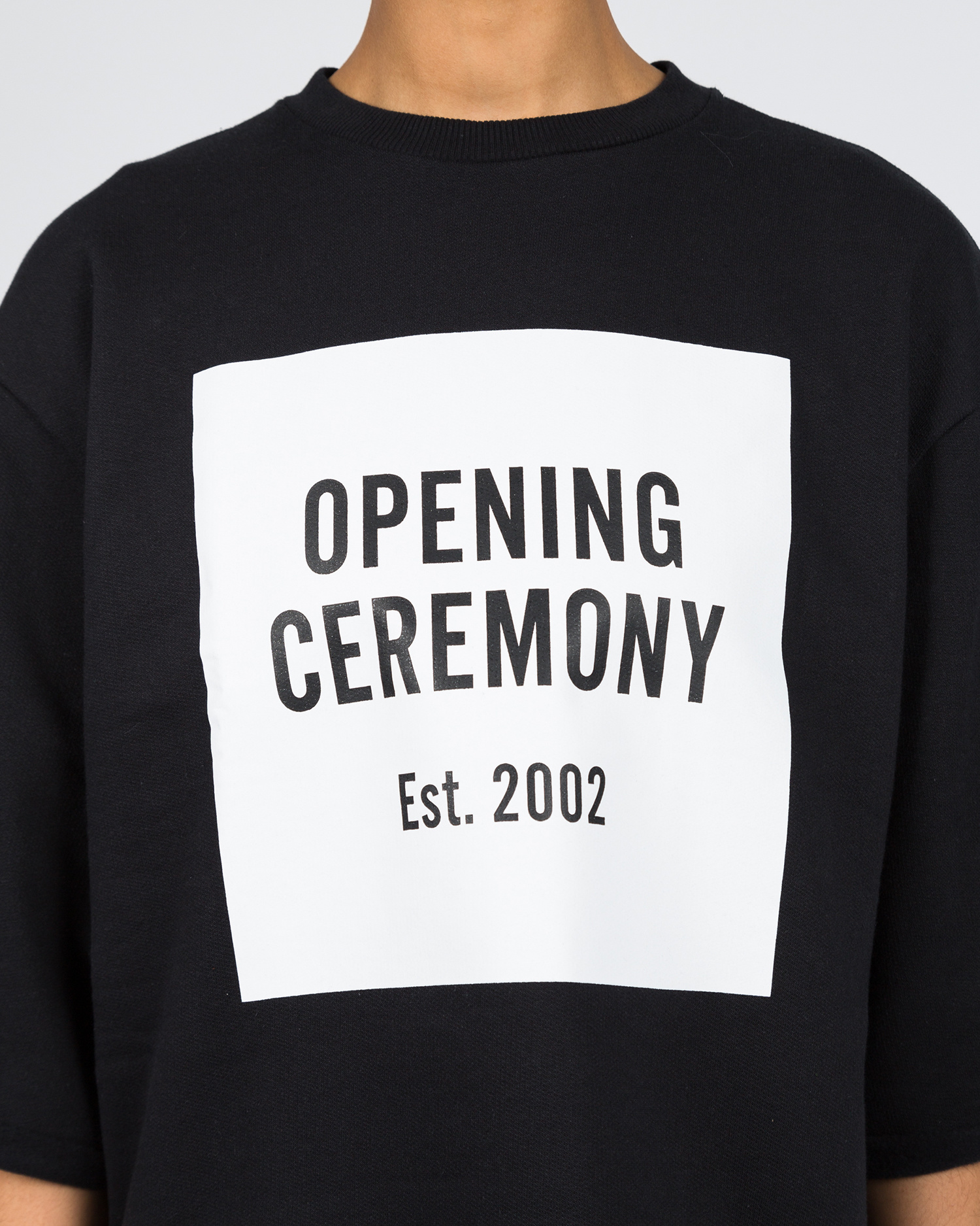 Opening Ceremony Cut-Off Sweat Tee Black