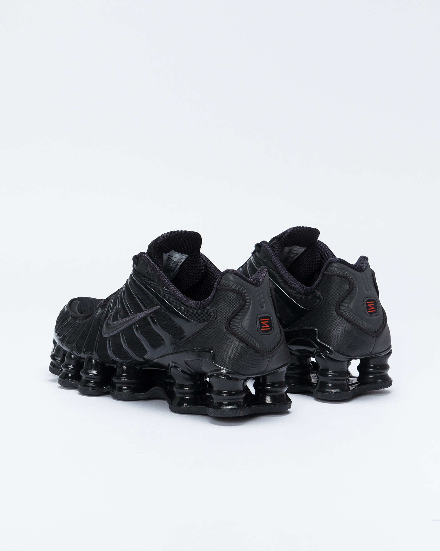 Nike W Shox TL Black/Black/Mtlc Hematite/Max Orange