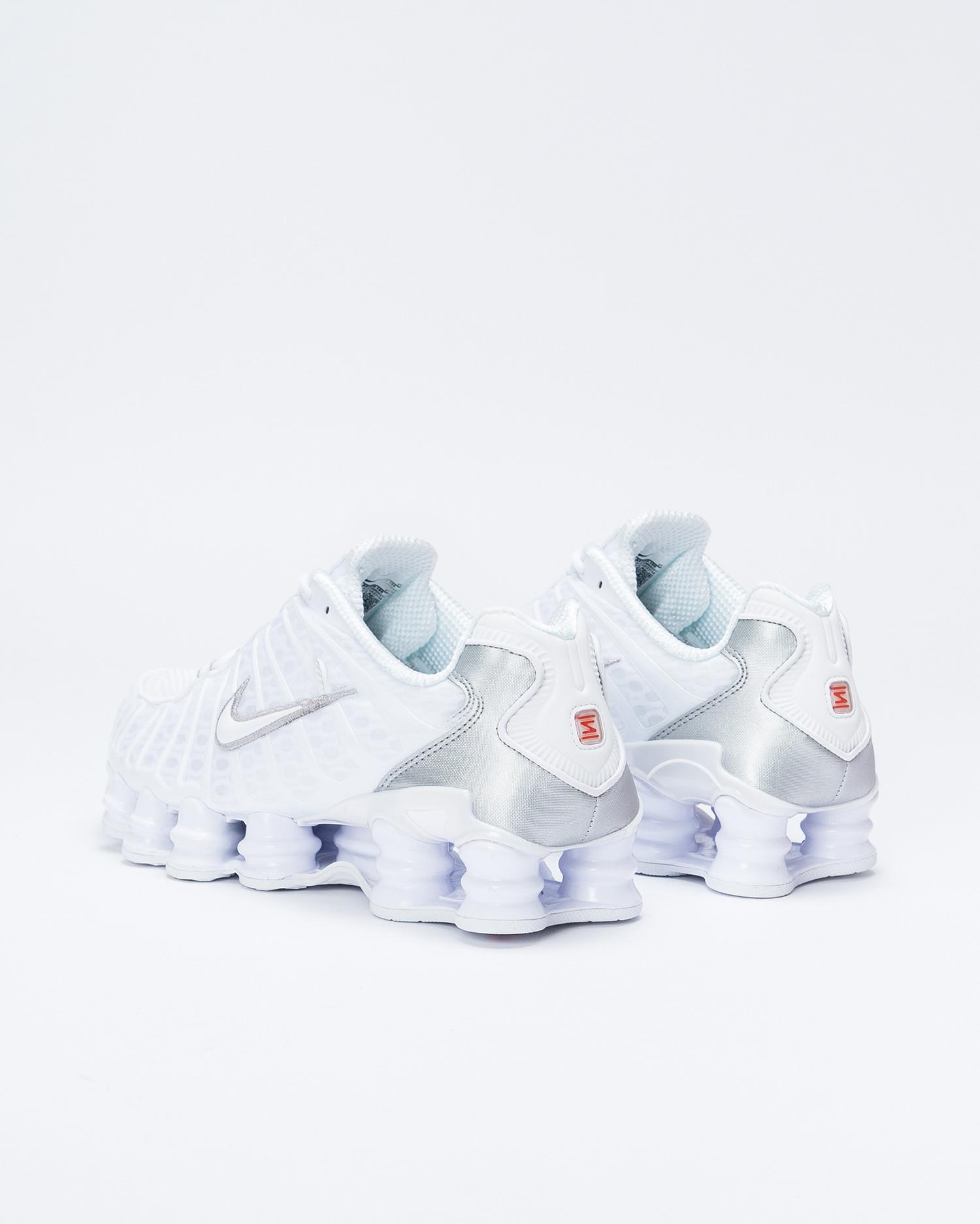 Nike Shox TL White/White-Metallic Silver-Max Orange