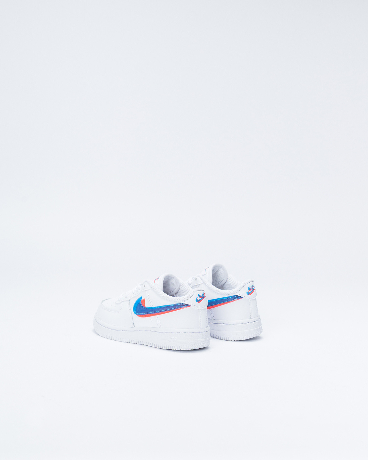Nike Force 1 LV8 TD WHite/Blue Hero/Bright Crimson