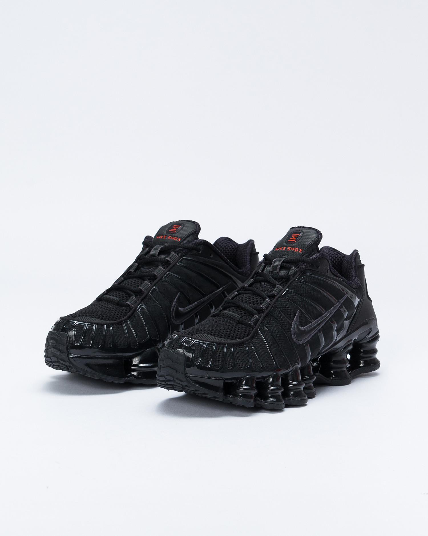 Nike Shox TL Black/Black-Mtlc Hematite-Max Orange