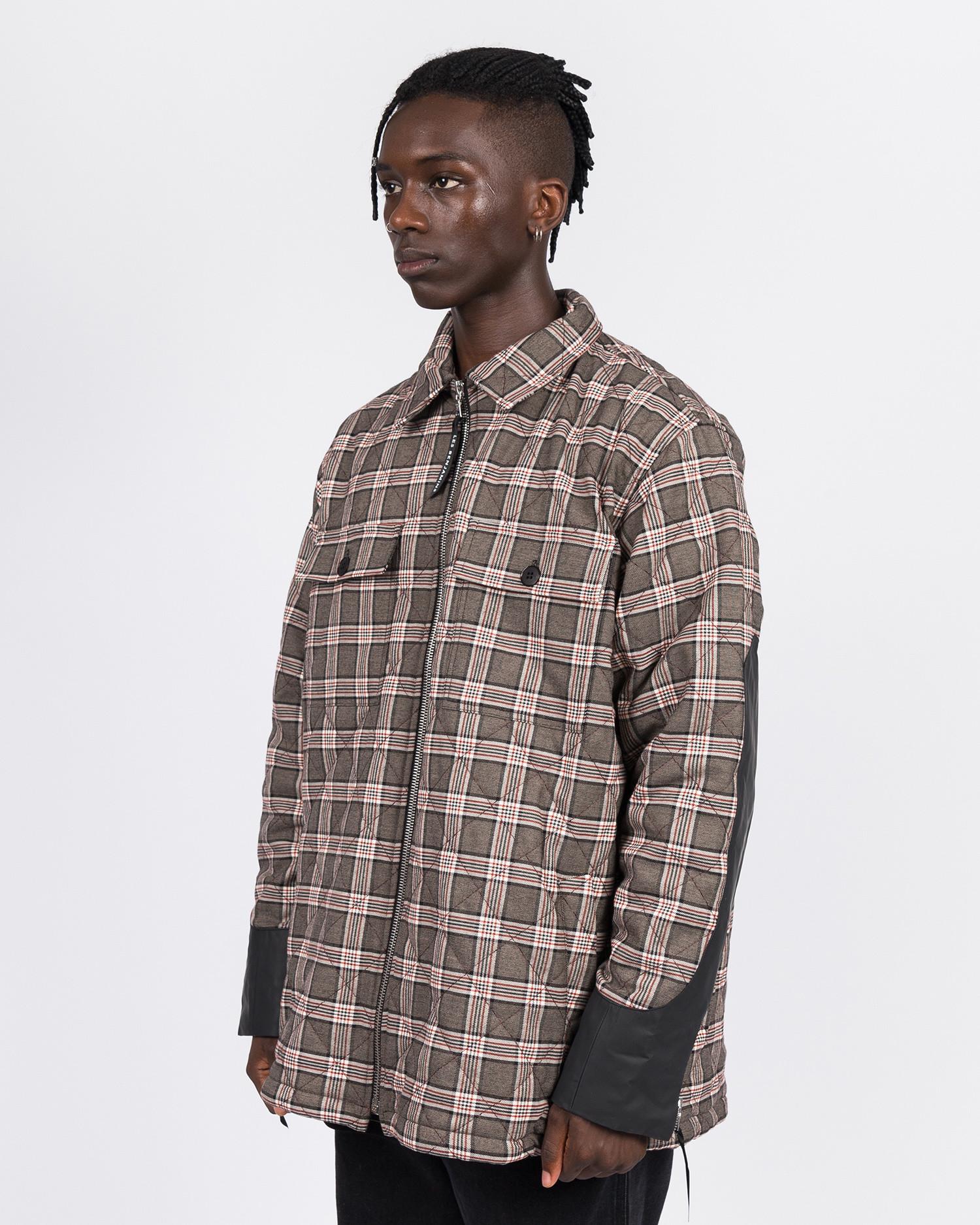 Les Benjamins Quilted Jacket Tartan Grey