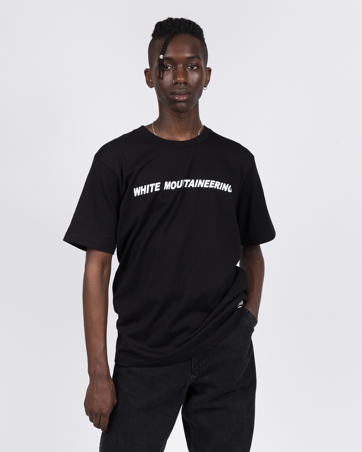 White Mountaineering Logo T-Shirt Black