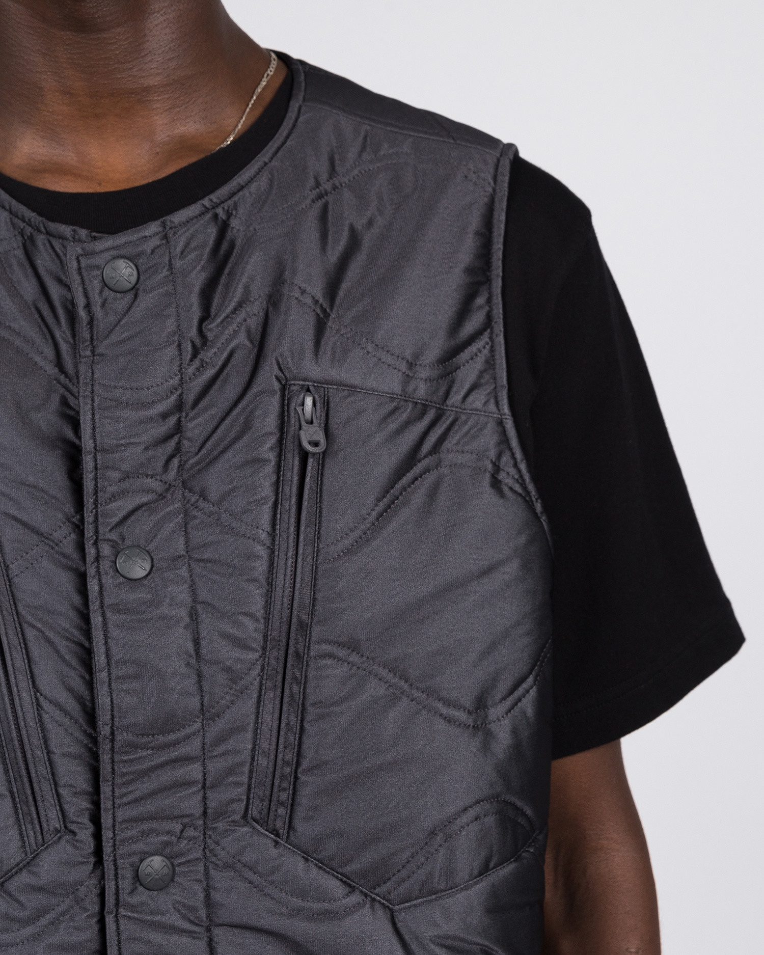 White Mountaineering Goretex Infinium Primaloft Padded Quilted Vest Charcoal