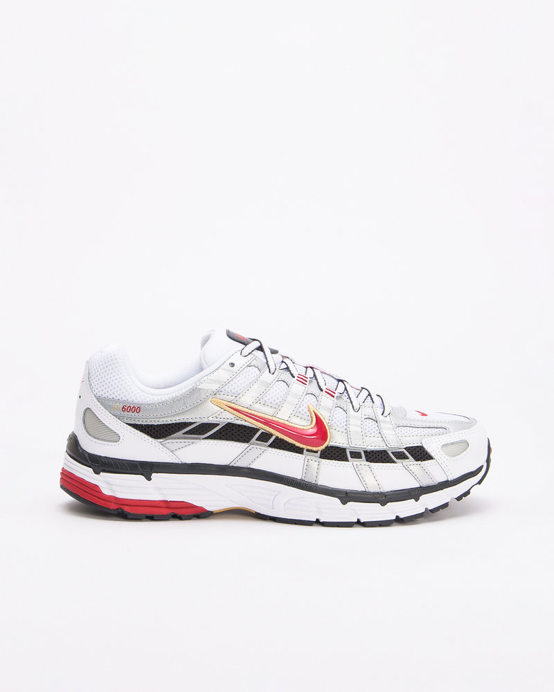 Nike Nike P-6000 White/Varsity Red-Mtlc Platinum