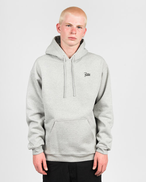Patta Patta Webbed Hooded Sweater Melange Grey