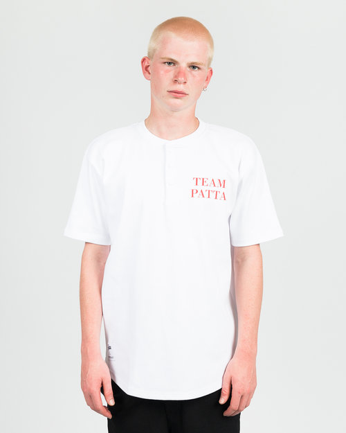 Patta Patta Baseball Shortsleeve Henley White