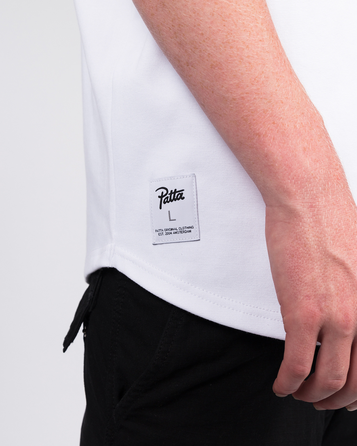 Patta Baseball Shortsleeve Henley White