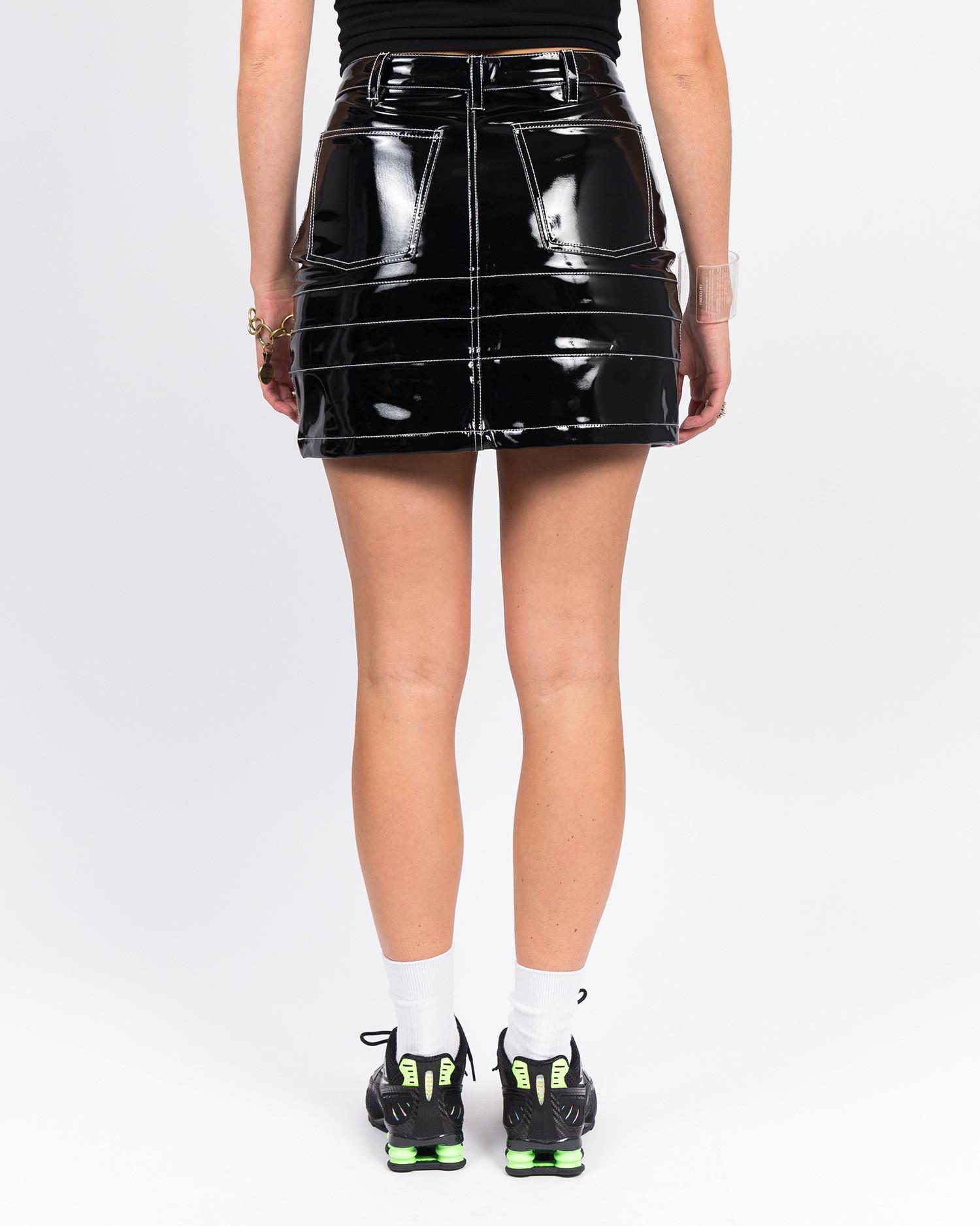 MadeMe Vinyl Skirt Black Patent