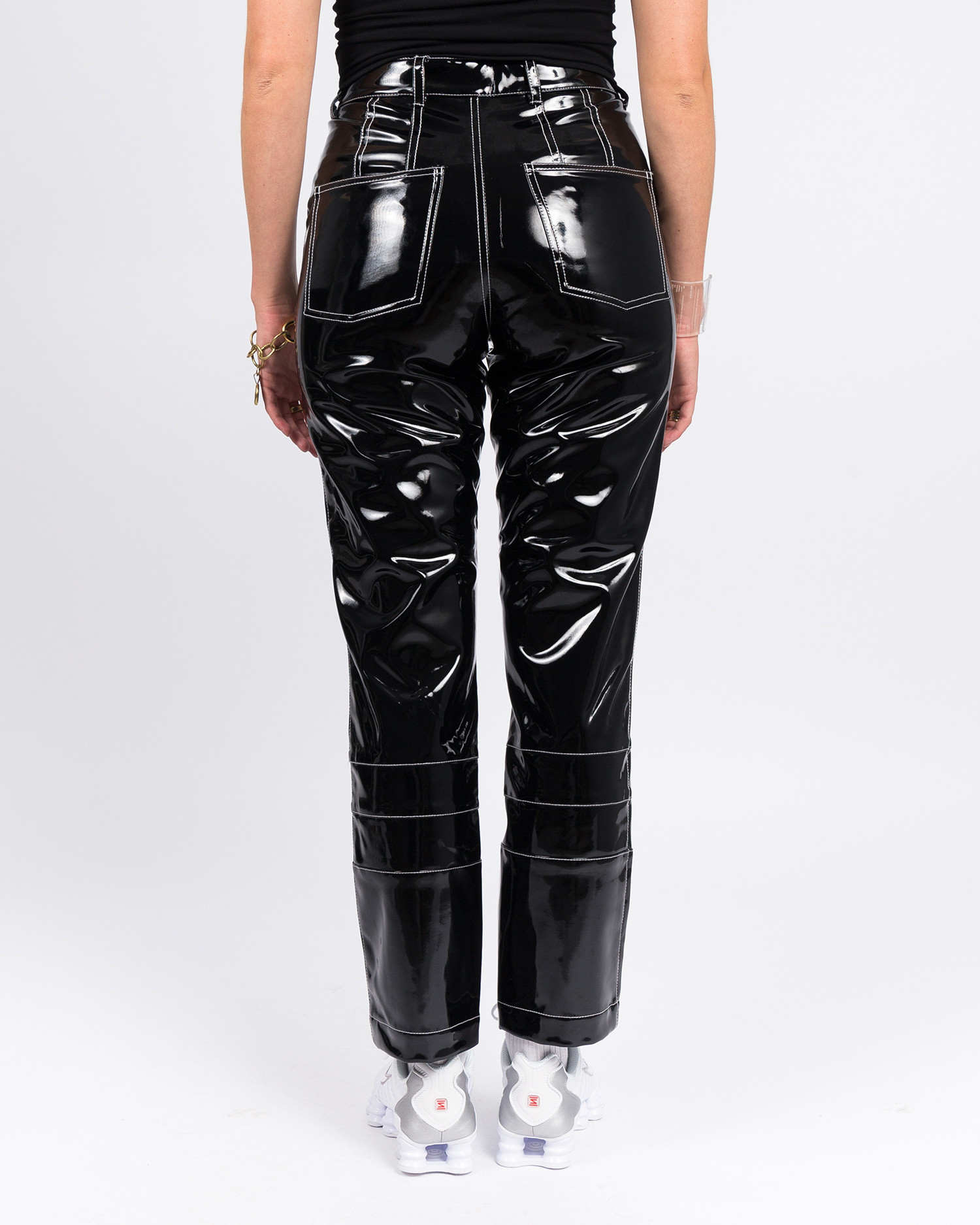 Made Me Vinyl High Waisted Pant Black Patent