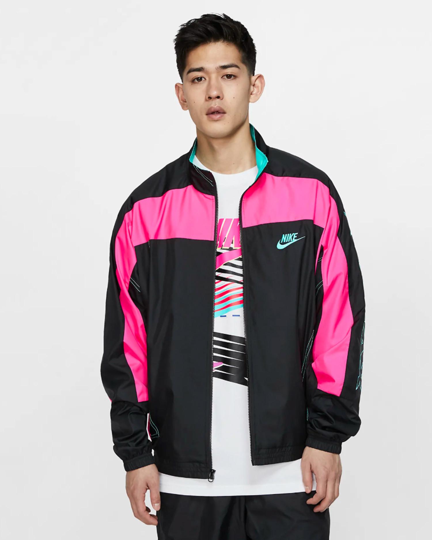 Nike x Atmos NRG VNTG Patchwork Tracktop Black/Hyper Pink/Hyper Jade
