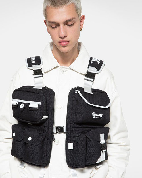 Made Me x Lesportsac White Mountaineering x Eastpak Multi pocket vest bag Black/black