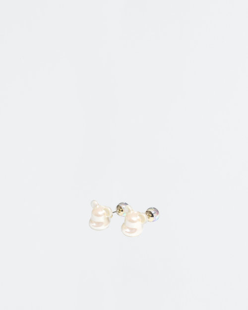 MEDICOM TOY BE@RBRICK X dix Bear-Shaped Pearl Earring