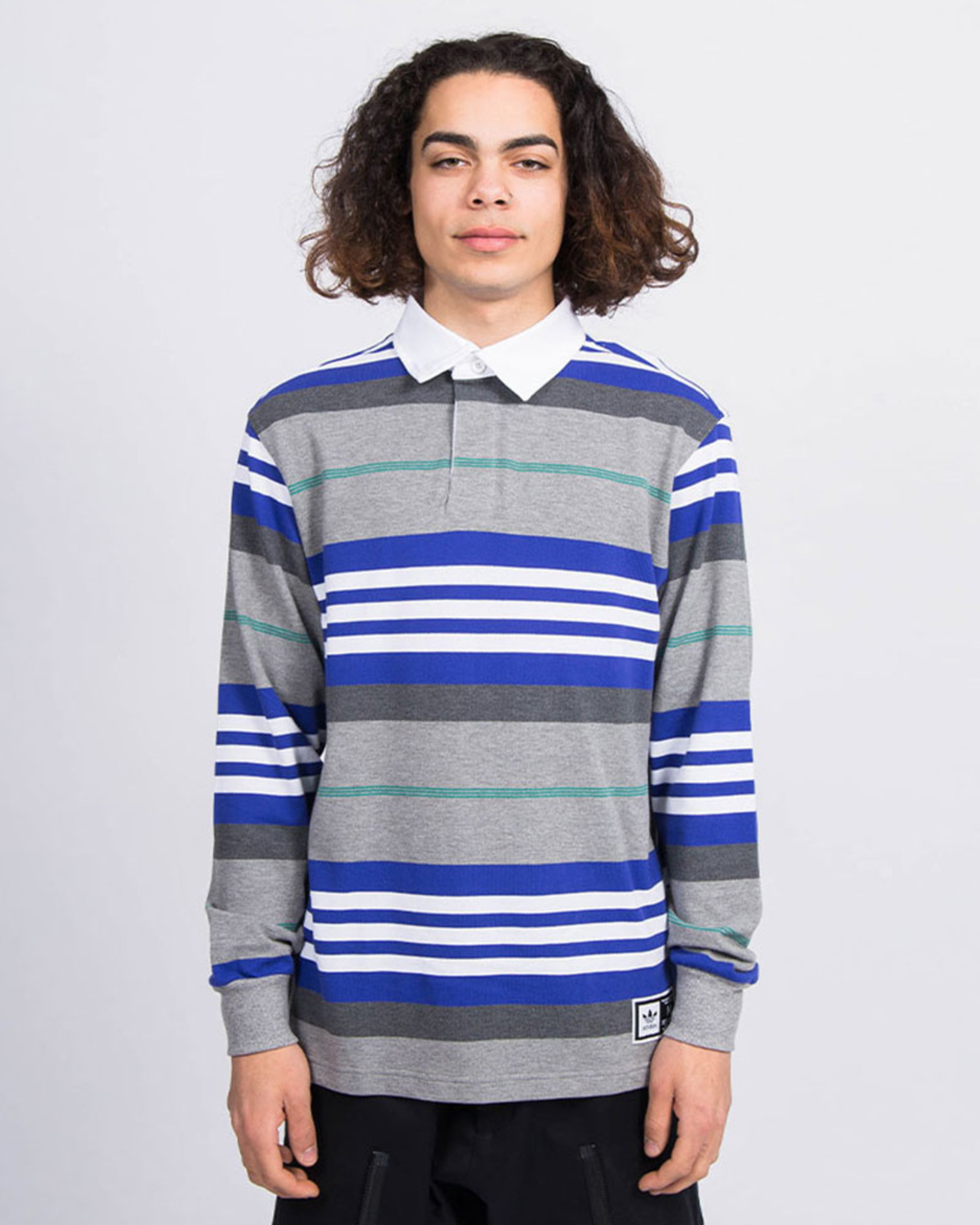 adidas Skateboarding Cleland Polo T-Shirt Grey / Blue